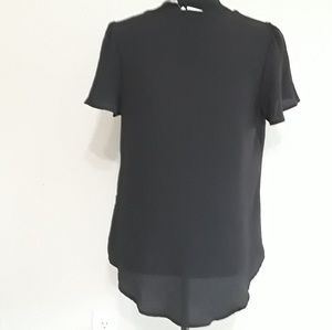 A New Day Tops - Black V-Neck, Short Sleeve Blouse NWT- Size Med